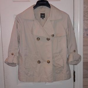 Gap 3/4 sleeve trench styled blazer